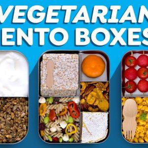 3 Vegetarian Bento Box Lunch Ideas