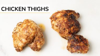 BEST BAKED CHICKEN THIGHS   easy recipe