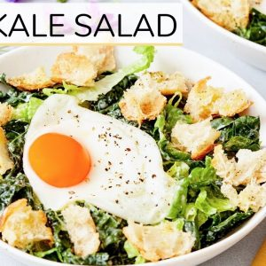 BEST KALE SALAD | easy + healthy lunch idea (with happy egg)