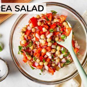 CHICKPEA SALAD | easy, vegan chickpea salad recipe
