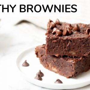HEALTHY BROWNIE RECIPE | gluten-free brownies made with almond flour