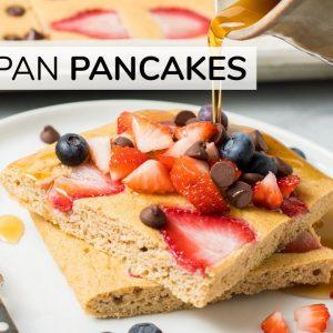 HOW TO MAKE SHEET PAN PANCAKES | keto + paleo recipe