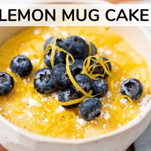KETO LEMON MUG CAKE | 1-minute in the microwave