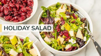 MY GO-TO HOLIDAY SALAD | easy winter salad recipe