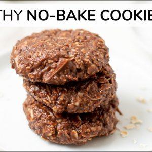 NO BAKE COOKIES | healthy chocolate oatmeal breakfast cookie