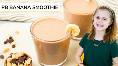 PEANUT BUTTER BANANA SMOOTHIE | just 4-ingredients