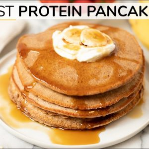 PEANUT BUTTER PROTEIN PANCAKES | without protein powder