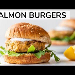 SALMON BURGER | easy canned salmon recipe