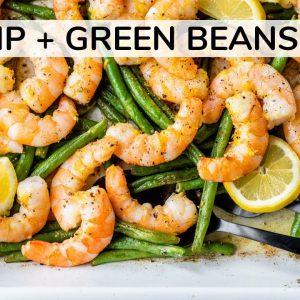 SHRIMP AND GREEN BEANS RECIPE | easy, healthy dinner idea