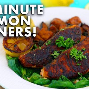 15 MINUTE Salmon Dinner Recipes – 3 Quick Dinner Ideas