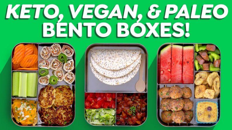 3 Easy Bento Box Lunch Ideas – Keto, Vegan & Paleo!