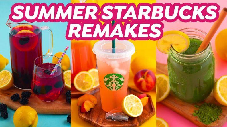 How to Make Lemonade + 3 Starbucks Summer Drinks!
