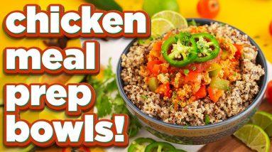 3 Healthy Chicken Meal Prep Bowls