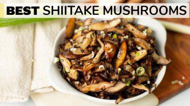 SHIITAKE MUSHROOMS RECIPE | how to cook shiitake mushrooms